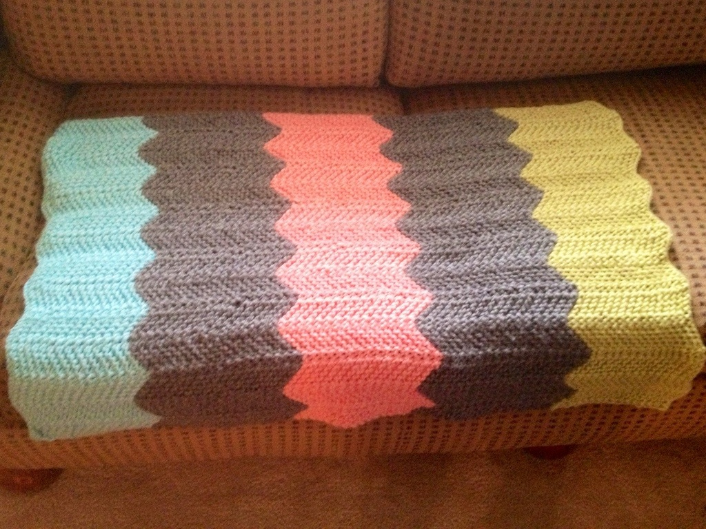 FO: Chevron Baby Blanket | My Tangled Yarn Knitting Adventures